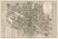 Paris, France 1823 Collin - Old Map Reprint