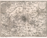 Paris, France 1832 Maire - Old Map Reprint
