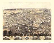 Fort Wayne, Indiana 1868 Bird's Eye View