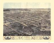 KoKomo, Indiana 1868 Bird's Eye View