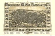 Richmond, Indiana 1884 Bird's Eye View