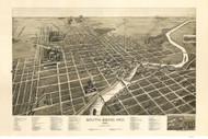 South Bend, Indiana 1890 Bird's Eye View