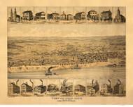 Tell City, Indiana 1870 Bird's Eye View