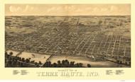 Terre Haute, Indiana 1880 Bird's Eye View