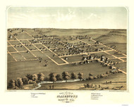 Blairstown, Iowa 1868 Bird's Eye View