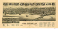 Fort Madison, Iowa 1889 Bird's Eye View