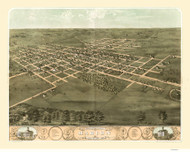 Marion, Iowa 1868 Bird's Eye View