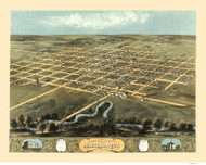 Marshalltown, Iowa 1868 Bird's Eye View