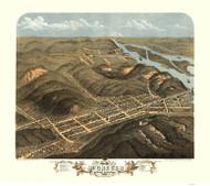 McGregor & North McGregor, Iowa 1869 Bird's Eye View