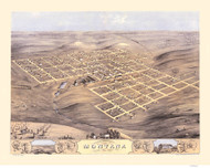 Montana, Iowa 1868 Bird's Eye View
