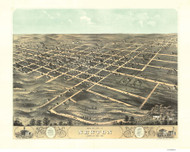 Newton, Iowa 1868 Bird's Eye View