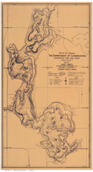 Lake James Indiana 1923 - Old Map Reprint
