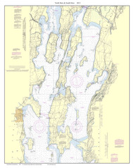 North Hero & South Hero Custom - 2013 Nautical Chart