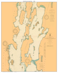 North Hero & South Hero Custom - 1920 Nautical Chart