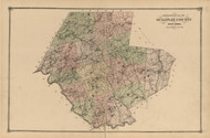 Sullivan County, New York 1875 - Old Town Map Reprint - Sullivan Co. Atlas