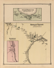 Mongaup Valley, South White Lake and Bushville, New York 1875 - Old Town Map Reprint - Sullivan Co. Atlas