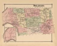 Delaware, New York 1875 - Old Town Map Reprint - Sullivan Co. Atlas