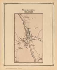 Woodbourne, New York 1875 - Old Town Map Reprint - Sullivan Co. Atlas
