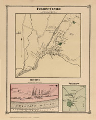 Fremont Center, Hankins, and Obernburgh, New York 1875 - Old Town Map Reprint - Sullivan Co. Atlas