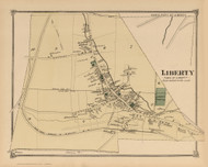 Liberty Village, New York 1875 - Old Town Map Reprint - Sullivan Co. Atlas