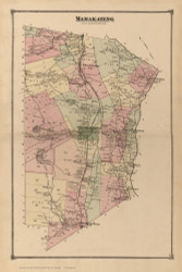 Mamakating, New York 1875 - Old Town Map Reprint - Sullivan Co. Atlas