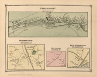 Phillipsport, Summitville, New Vernon, West Brookville, New York 1875 - Old Town Map Reprint - Sullivan Co. Atlas