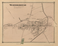 Wurtsborough, New York 1875 - Old Town Map Reprint - Sullivan Co. Atlas