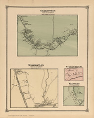 Grahamsville, Neversink Flats, Currys Corners and Willowemoc, New York 1875 - Old Town Map Reprint - Sullivan Co. Atlas