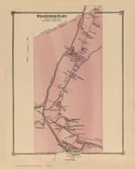 Westfield Flats, New York 1875 - Old Town Map Reprint - Sullivan Co. Atlas