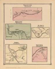 Woolseyville, Morsston, De Bruce, Purvis, and Shin Creek, New York 1875 - Old Town Map Reprint - Sullivan Co. Atlas