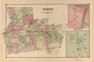 Thompson, New York 1875 - Old Town Map Reprint - Sullivan Co. Atlas