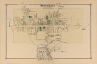 Monticello, New York 1875 - Old Town Map Reprint - Sullivan Co. Atlas
