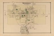 Monticello, New York 1875 - Old Town Map Reprint - Sullivan Co. Atlas
