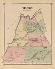 Tusten, New York 1875 - Old Town Map Reprint - Sullivan Co. Atlas