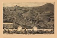 Adams, Massachusetts 1882 Bird's Eye View - Old Map Reprint