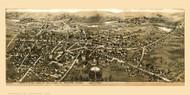 Barre, Massachusetts ca 1890 Bird's Eye View - Old Map Reprint