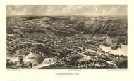 Hopedale, Massachusetts 1899 Bird's Eye View - Old Map Reprint