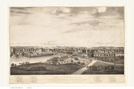 Lowell, Massachusetts 1834 Bird's Eye View - Old Map Reprint BPL