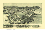 Magnolia, Massachusetts 1887 Bird's Eye View - Old Map Reprint BPL