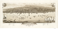 Provincetown, Massachusetts 1882 Bird's Eye View - Old Map Reprint BPL