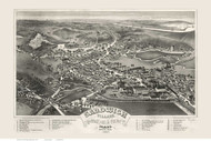 Sandwich, Massachusetts 1884 Bird's Eye View - Old Map Reprint