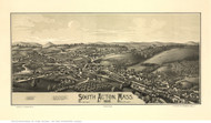 South Acton, Massachusetts 1886 Bird's Eye View - Old Map Reprint