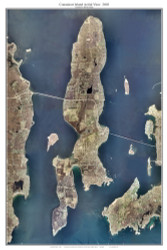 Aerial Photo View of Conanicut Island, 2003 - Rhode Island Custom Composite Map Reprint