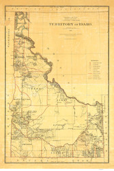 Idaho-Department of the Interior 1879  - Old State Map Reprint