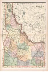 Idaho 1901 - Old State Map Reprint