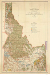 Idaho 1932 Dept of the Interior- Old State Map Reprint