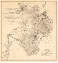 Idaho Regional - Sources of the Snake River c. 1876 - Old Map Reprint