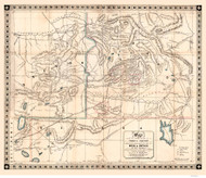 Idaho Regional - Mining Sections of Idaho & Oregon 1864 - Old Map Reprint
