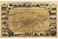 Fresno, California 1901 Bird's Eye View