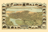 Oakland, California 1900 Bird's Eye View